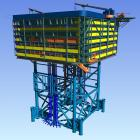 The platform for the offshore converter station of BorWin3 will be constructed using floatover technology. (Picture: Trelleborg)