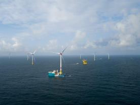 Turbine #31 installed in the North Sea as the company's second German project nears completion