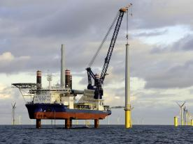 The Sea Challenger completed the installation of 67 Siemens 6 MW turbines on the Dudgeon Offshore Wind Farm (photo: A2SEA)