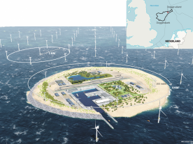 This aritficial could be a very efficient and affordable way for the countries around the North Sea to meet the future demand for more renewable energy. (Graphic: TenneT)