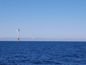 The first floating offshore wind farm, Hywind, off the coast of Scotland (Photo: DNV GL)