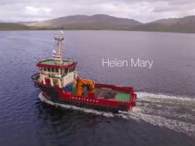 The multi-role support vessel Helen Mary was launched on 20th October 2014 and will be used during the construction of the Offshore Wind Park Race Bank. (Picture: Screenshot of the promotional video of Inverlussa Marine Services)