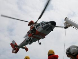 Helicopter Emergency Medical Services is one part of NHC's supply contract for offshore wind farm Merkur. (Photo: Northern HeliCopter)
