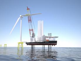 A preview of the new SOUL jack-up vessel concept has been presented to a select group of industry players. (Graphic: Ulstein)