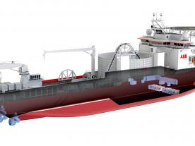 Cross section of ABB's new state-of-art cable laying vessel (Graphic: ABB)
