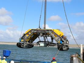The CTO 107-1100 trencher ROV both meets and exceeds today's requirements for an optimum and safe burial of inter-array cables. (Photo: CT Offshore)