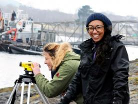 BSc (Hons) marine science students at the Scottish Association for Marine Science UHI, Dunstaffnage